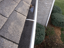 gutter with gravel inside
